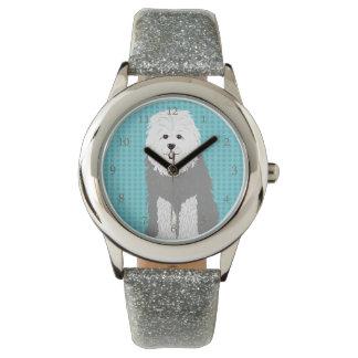 Perro de ovejas inglés viejo reloj