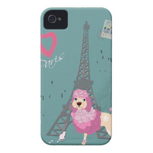 Perro de París del amor Funda Para iPhone 4