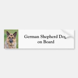 Perro de pastor alemán a bordo pegatina para el pa pegatina para auto