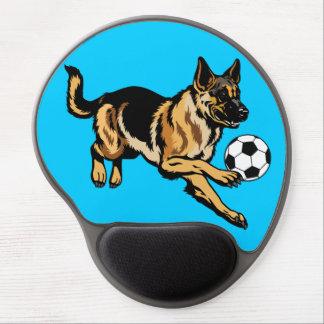 perro de pastor alemán alfombrillas con gel