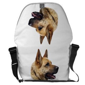Perro de pastor alemán Alsatian personalizado Bolsas De Mensajería