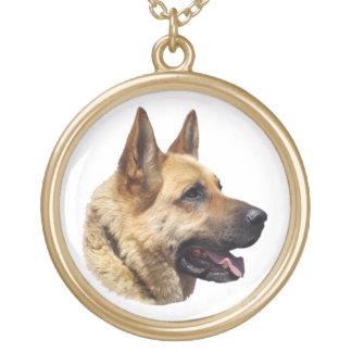 Perro de pastor alemán Alsatian personalizado Collar Dorado
