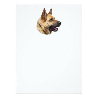 """Perro de pastor alemán Alsatian personalizado Invitación 6.5"""" X 8.75"""""""