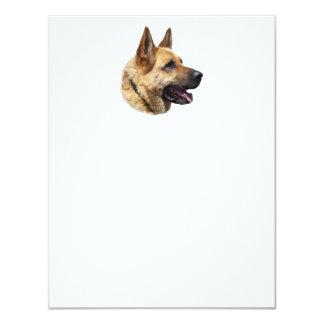 """Perro de pastor alemán Alsatian personalizado Invitación 4.25"""" X 5.5"""""""