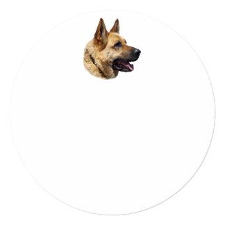 """Perro de pastor alemán Alsatian personalizado Invitación 5.25"""" X 5.25"""""""