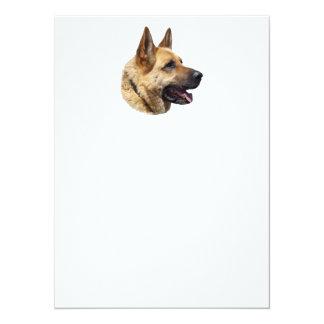 """Perro de pastor alemán Alsatian personalizado Invitación 5.5"""" X 7.5"""""""