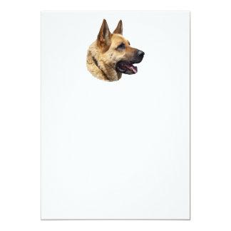 """Perro de pastor alemán Alsatian personalizado Invitación 5"""" X 7"""""""