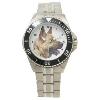 Perro de pastor alemán Alsatian Relojes De Pulsera