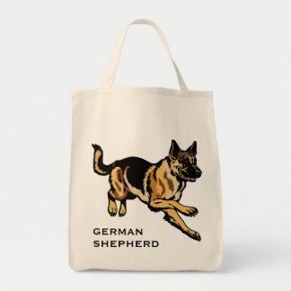 perro de pastor alemán bolsa tela para la compra