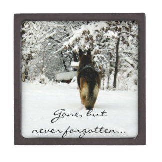 Perro de pastor alemán caja de joyas de calidad