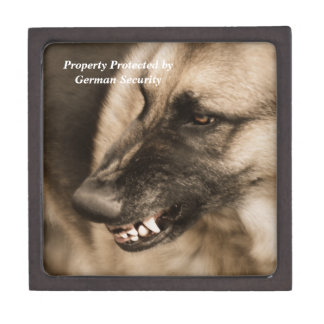 Perro de pastor alemán cajas de recuerdo de calidad