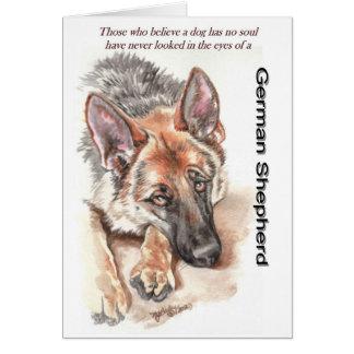 """Perro de pastor alemán """"conmovedor """" tarjeta de felicitación"""