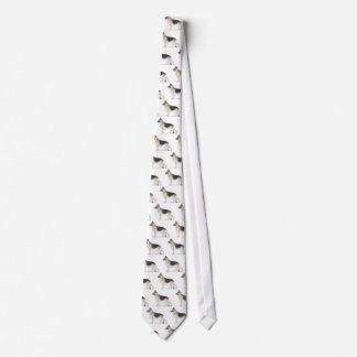 Perro de pastor alemán corbata