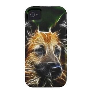 Perro de pastor alemán de Fractalius iPhone 4 Carcasa