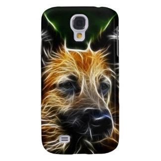 Perro de pastor alemán de Fractalius Funda Para Galaxy S4