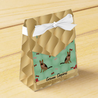 Perro de pastor alemán del dibujo animado caja para regalos