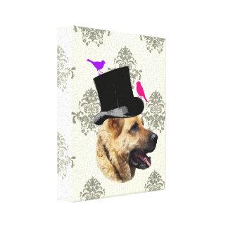 Perro de pastor alemán divertido impresiones de lienzo