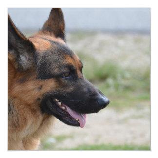 """Perro de pastor alemán dulce invitación 5.25"""" x 5.25"""""""