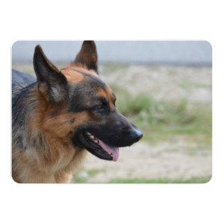 """Perro de pastor alemán dulce invitación 5"""" x 7"""""""