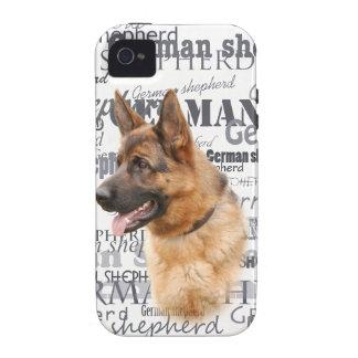 Perro de pastor alemán iPhone 4/4S carcasa