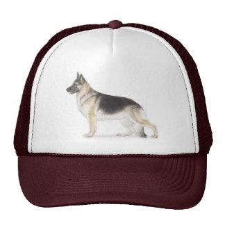 Perro de pastor alemán gorras de camionero