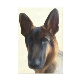 Perro de pastor alemán impresion de lienzo
