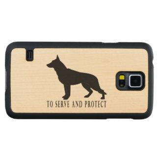 Perro de pastor alemán: Para servir y proteger Funda De Galaxy S5 Slim Arce