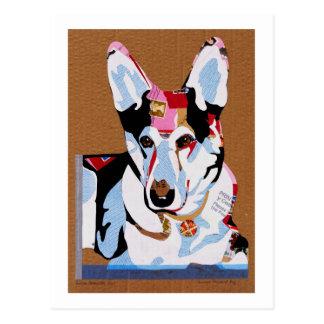 Perro de pastor alemán postal