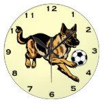 perro de pastor alemán reloj