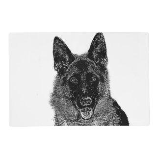 Perro de pastor alemán salvamanteles