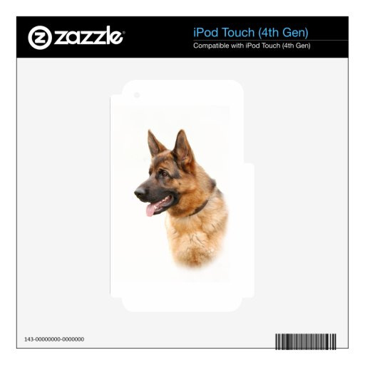 Perro de pastor alemán calcomanía para iPod touch 4G