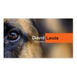 Perro de pastor alemán tarjetas de visita