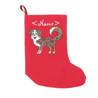 Perro de pastor australiano rojo de Merle Bota Navideña Pequeña