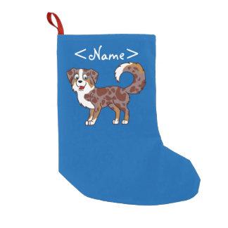 Perro de pastor australiano rojo de Merle Calcetín De Navidad Pequeño