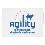 Perro de pastor australiano tarjeta
