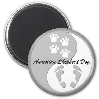 perro de pastor de Anatolia Imán Redondo 5 Cm
