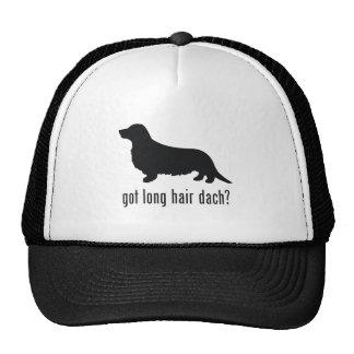 Perro de patas muy cortas de pelo largo gorros bordados