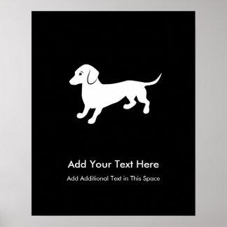 Perro de patas muy cortas póster