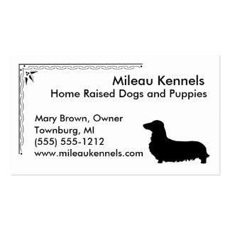 Perro de patas muy cortas tarjetas de visita
