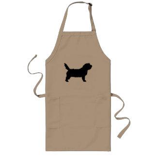 Perro de PBGV (negro) Delantal Largo