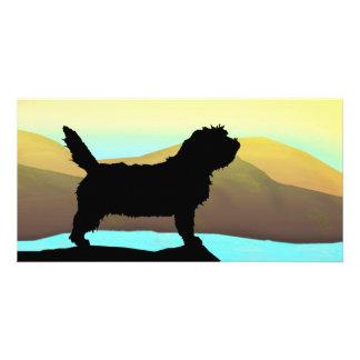 Perro de PBGV por el mar Tarjeta Personal