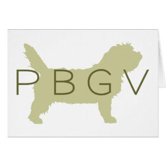 Perro de PBGV verde con PBGV Tarjeton