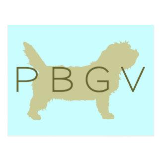 Perro de PBGV verde con PBGV Postal