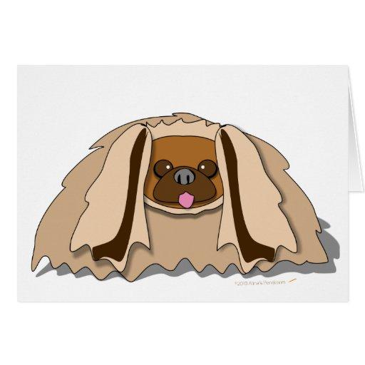 Perro de Pekingese del dibujo animado Tarjeta De Felicitación