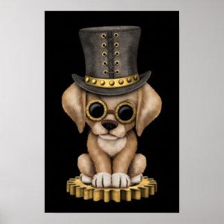Perro de perrito amarillo lindo del laboratorio de posters