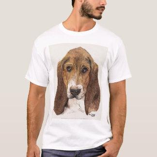Perro de perrito de Basset Hound, acuarela Playera