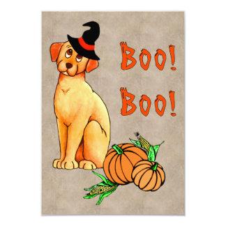 Perro de perrito de Halloween Invitación 8,9 X 12,7 Cm