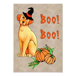 Perro de perrito de Halloween Invitación 12,7 X 17,8 Cm