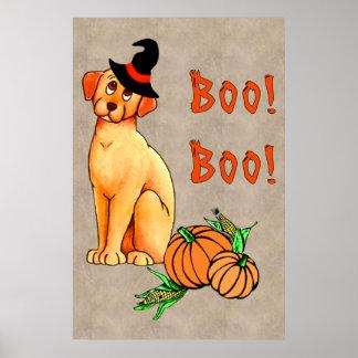 Perro de perrito de Halloween Poster
