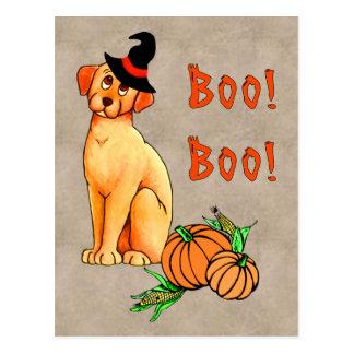 Perro de perrito de Halloween Postal